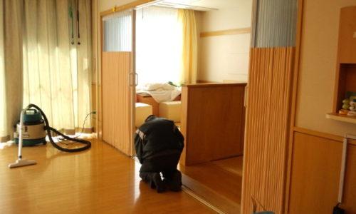 静岡市 T施設 アコーディオンカーテン取付工事