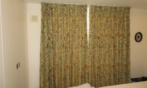 静岡市駿河区のマンション ウィリアム・モリス デザインのカーテンに取り替えました。